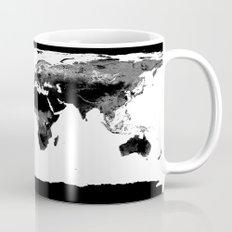 World Map  Black & White Mug