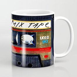 Retro classic vintage gold mix cassette tape Coffee Mug