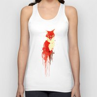 spirit Tank Tops featuring The fox, the forest spirit by Picomodi