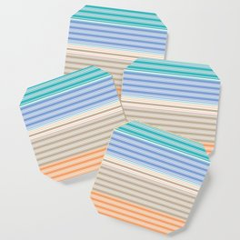 Cool Summer Stripes Coaster