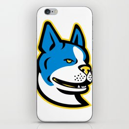 Boston Terrier Dog Mascot iPhone Skin
