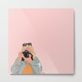 A Girl and her Camera Metal Print