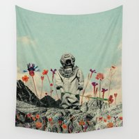 diver Wall Tapestries featuring Lonely Diver by Fajar P. Domingo