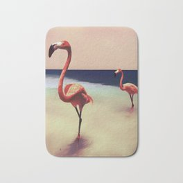Flamingo beach Bath Mat