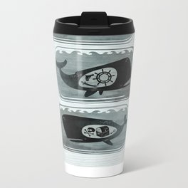 Whale in a Bottle | triptych Metal Travel Mug