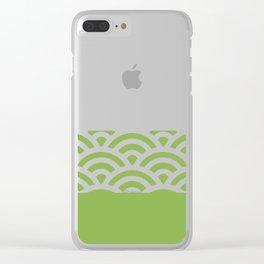 Rainbow Trim Jungle Green Clear iPhone Case