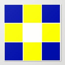TEAM COLORS 3...YELLOW ,BLUE Canvas Print