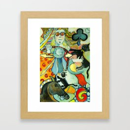 The Queen of Clubs-Driving Framed Art Print