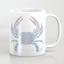 Tribal Blue Crab Coffee Mug