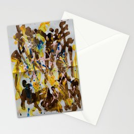 Abstract casting motive I Stationery Cards