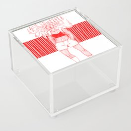 Candle Hair Red Acrylic Box