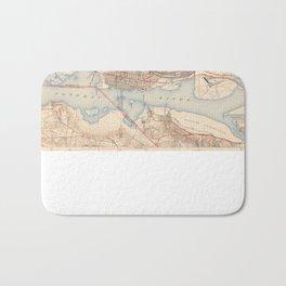 Vintage Map of Alexandria Virginia (1945) Bath Mat