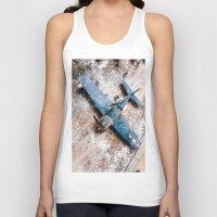 airplane Tank Tops featuring Airplane by Mauricio Santana