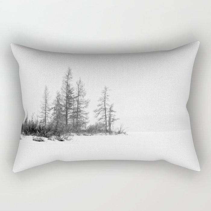 trees on white Rectangular Pillow