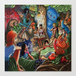 One piece of sleep with friends Canvas Print