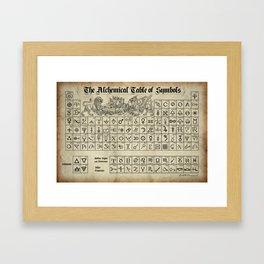 The Alchemical Table of Symbols Framed Art Print