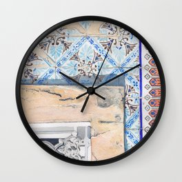 Portuguese Tiles of Lisbon Wall Clock