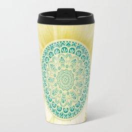 Sunflower Mandala Travel Mug
