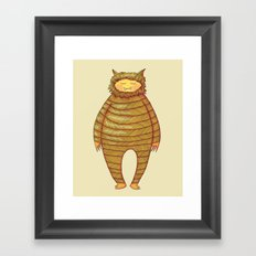 Fangs Monster Framed Art Print