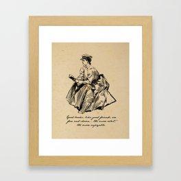Lousia May Alcott - Good Books Framed Art Print