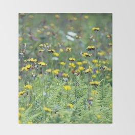 Summer Field Killington Vermont Throw Blanket