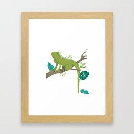 Sorry My Bearded Dragon Ate My Homework Funny Bearded Dragon Lover  Framed Art Print