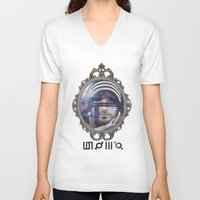 30 seconds to mars V-neck T-shirts featuring 30 Seconds To Mars by Andrea Valentina