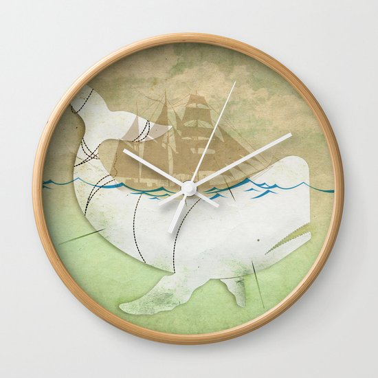 The ghost of Captain Ahab  Wall Clock