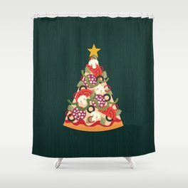 PIZZA ON EARTH Shower Curtain
