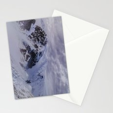 Hiking on top of The World Stationery Cards