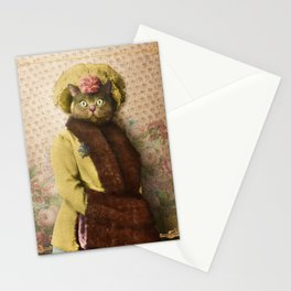 Lady Vanderkat with Roses Stationery Cards