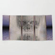 fractal skull Beach Towel