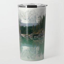 Turquoise lake - Landscape and Nature Photography Travel Mug