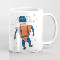 steve rogers Mugs featuring Dorito Steve by Firefly Summers