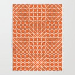 Geometric Tile Pattern Orange Poster