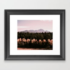 mountains : colorado Framed Art Print