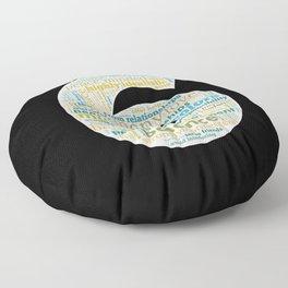 Life Path 6 (black background) Floor Pillow