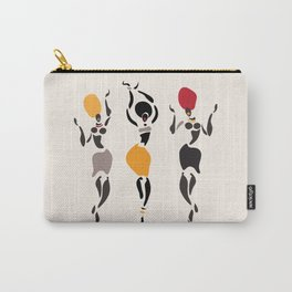 Abstract African dancers silhouette. Figures of african women. Carry-All Pouch