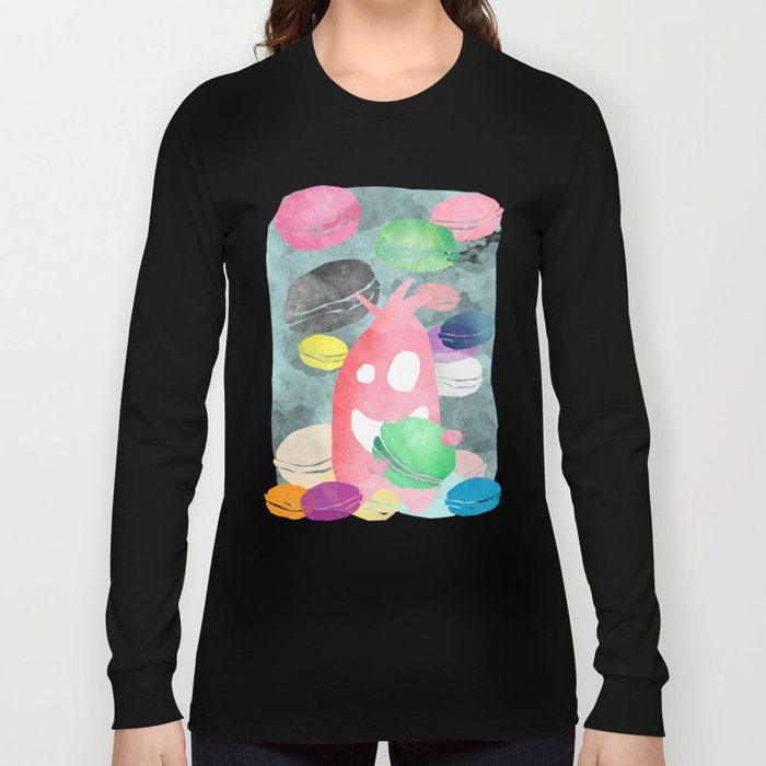 A wild creature in a macaron rain Long Sleeve T-shirt