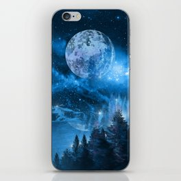 Night forest iPhone Skin