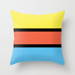Diversions #1 in Yellow, Orange & Powder Blue Throw Pillow