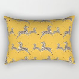 Royal Tenenbaums Zebra Wallpaper - Mustard Yellow Rectangular Pillow