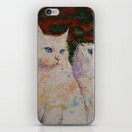 White Cats iPhone Skin