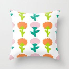 Retro Flower Throw Pillow