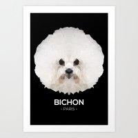 Bichon, Paris Art Print
