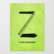Z is for Zoolander Canvas Print