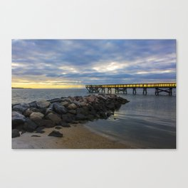 Yorktown Fishing Pier at Sunrise Canvas Print