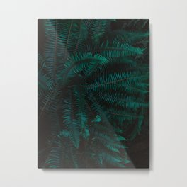 Blue Fern Twilight Metal Print