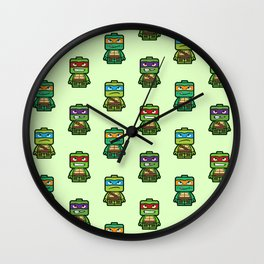 Chibi Ninja Turtles Wall Clock