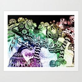 Mushroom Field Art Print
